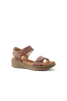 Women's Leather Comfort Casual Wedge Sandals