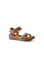 Women's Wide Leather Comfort Casual Wedge Sandals