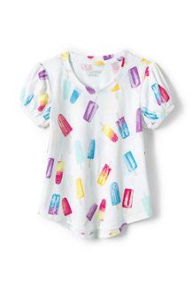 T-Shirt à Manches Courtes Bouffantes, Fille