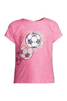 T-Shirt Sport à Ruchés et Manches Courtes, Fille