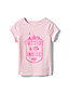 T-Shirt Graphique Ras-du-Cou à Manches Courtes, Fille