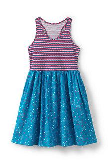 Girls' Sleeveless V-neck Jersey Dress