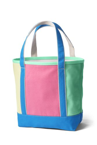Colorblock Medium Open Top Canvas Tote Bag