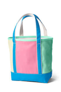 Colorblock Medium Open Top Canvas Tote Bag, Back