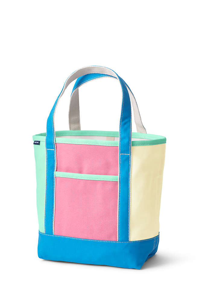 Colorblock Medium Open Top Canvas Tote Bag, Front