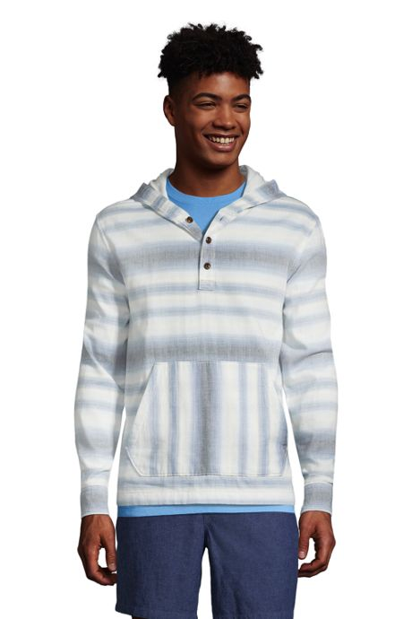 Men's Traditional Fit Double Cloth Hooded Popover Shirt