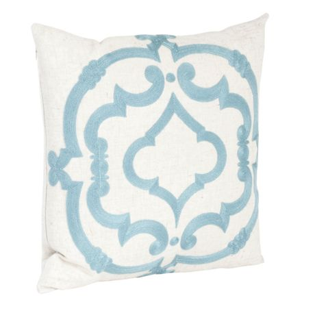 Saro Lifestyle Embroidered Design Decorative Throw Pillow