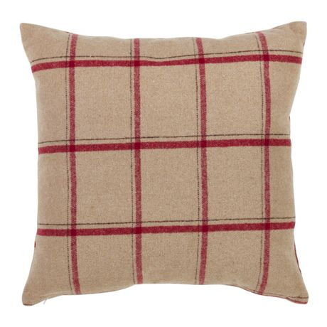 Saro Lifestyle Windowpane Plaid Pattern Decorative Throw Pillow