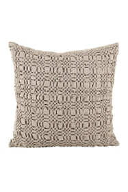 Saro Lifestyle Smocked Design Decorative Throw Pillow