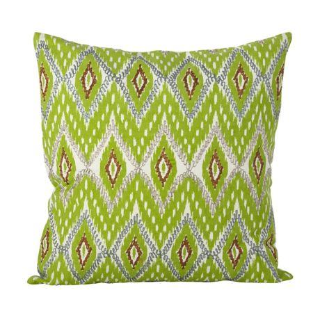 Saro Lifestyle Stitched Ikat Design Decorative Throw Pillow