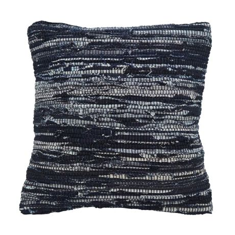 Saro Lifestyle Denim Chindi Decorative Throw Pillow