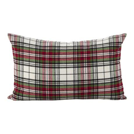 Saro Lifestyle Plaid Decorative Throw Pillow
