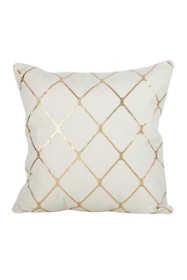 Saro Lifestyle Metallic Diamond Design Decorative Throw Pillow