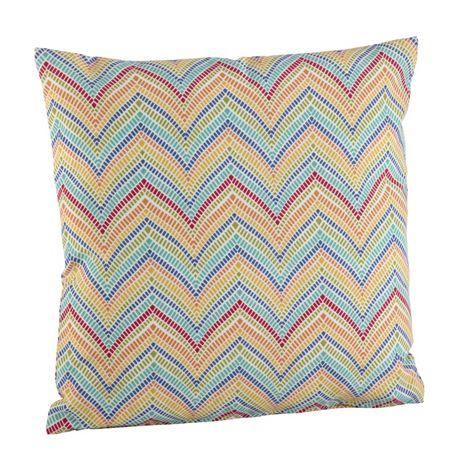 Saro Lifestyle Bright Chevron Decorative Throw Pillow