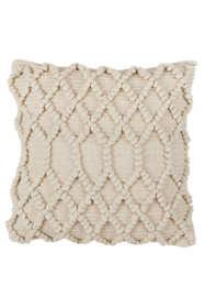 Saro Lifestyle Diamond Lattice Weave Decorative Throw Pillow