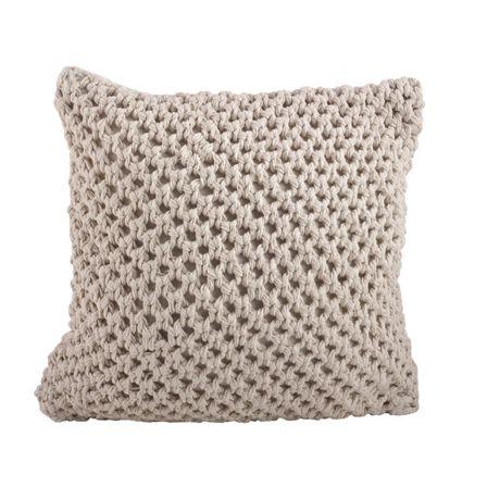 Saro Lifestyle Knitted Decorative Throw Pillow
