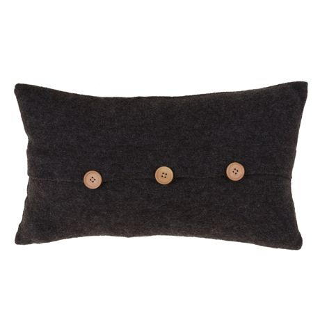 Saro Lifestyle Cardigan Button Decorative Throw Pillow