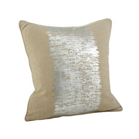 Saro Lifestyle Metallic Banded Print Decorative Throw Pillow