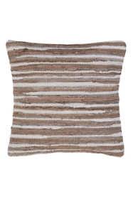 Saro Lifestyle Striped Chindi Decorative Throw Pillow