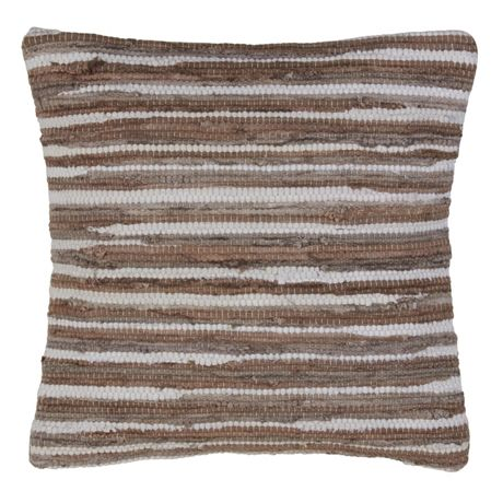 Saro Lifestyle Striped Chindi Decorative Throw Pillow
