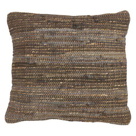 Saro Lifestyle Rustic Chindi Decorative Throw Pillow