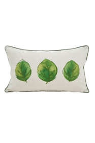 Saro Lifestyle Leaf Print Decorative Throw Pillow