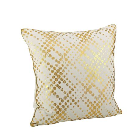 Saro Lifestyle Metallic Lattice Pattern Decorative Throw Pillow