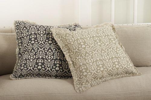 Saro Lifestyle Floral Motif Decorative Throw Pillow