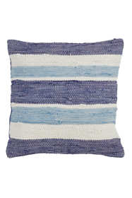 Saro Lifestyle Wide Striped Chindi Decorative Throw Pillow
