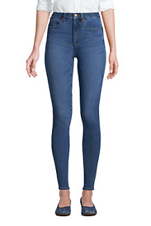 High Waist Leggings-Jeans mit Stretch in Indigo für Damen