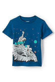 T-Shirt Graphique Ras-du-Cou à Manches Courtes, Garçon