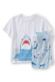 Kurzes Pyjama-Set mit Grafik für Jungen