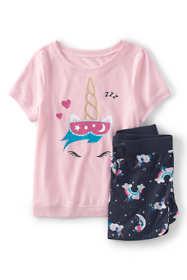 Girls Short Sleeve Tee & Shorts Pajama Set