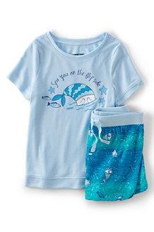 Girls' Graphic Pyjama Shorts Set