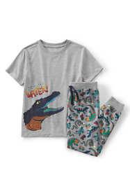 Boys Short Sleeve Top & Jogger Pants Pajama Set