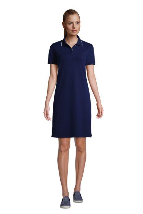 Women's Short Sleeve Mesh Cotton Dress