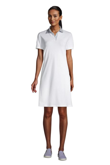 Women's Short Sleeve Mesh Cotton Dress