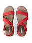 Sandale Confort Plate, Femme Pied Large