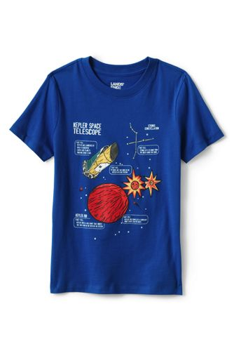 T-Shirt Graphique Ras-du-Cou à Manches Courtes, Enfant