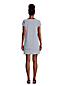 Robe de Plage à Manches Courtes, Femme Stature Standard