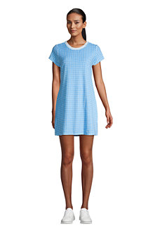 Women's Terry T-shirt Dress Beach Cover Up