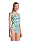 Women's Adjustable Chlorine Resistant V-neck Underwire Tankini - D Cup