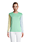 Feinstrick-Pullover Colorblock für Damen