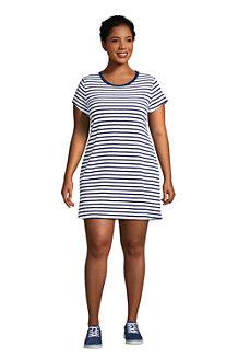 Women's Terry T-shirt Dress Beach Cover Up