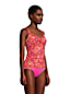 Women's Adjustable Chlorine Resistant V-Neck Wrap Underwire Tankini - D Cup
