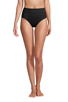 Women's Chlorine Resistant High Waisted Control Bikini Bottoms