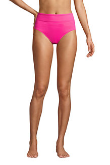 Women's Chlorine Resistant High Waisted Bikini Bottoms
