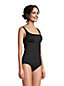 Women's Adjustable Chlorine Resistant Square Neck Underwire Tankini - DD cup