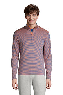T-Shirt à Col Haut Zippé et Manches Longues, Homme
