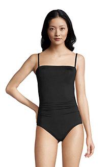 Chlorresistenter Control Bandeau-Badeanzug für Damen